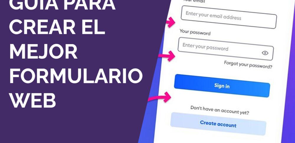 Guía para crear formulario web