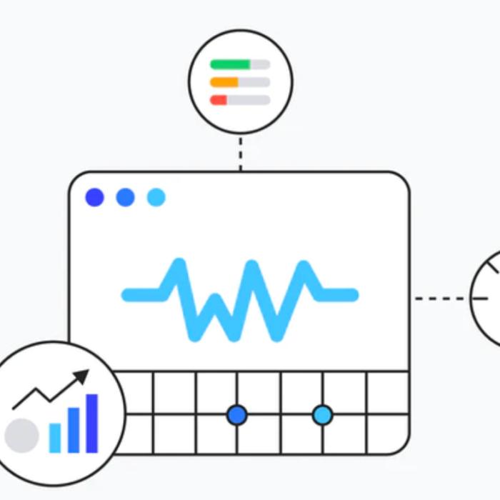 Img con gráficos de Core Web Vitals de Google