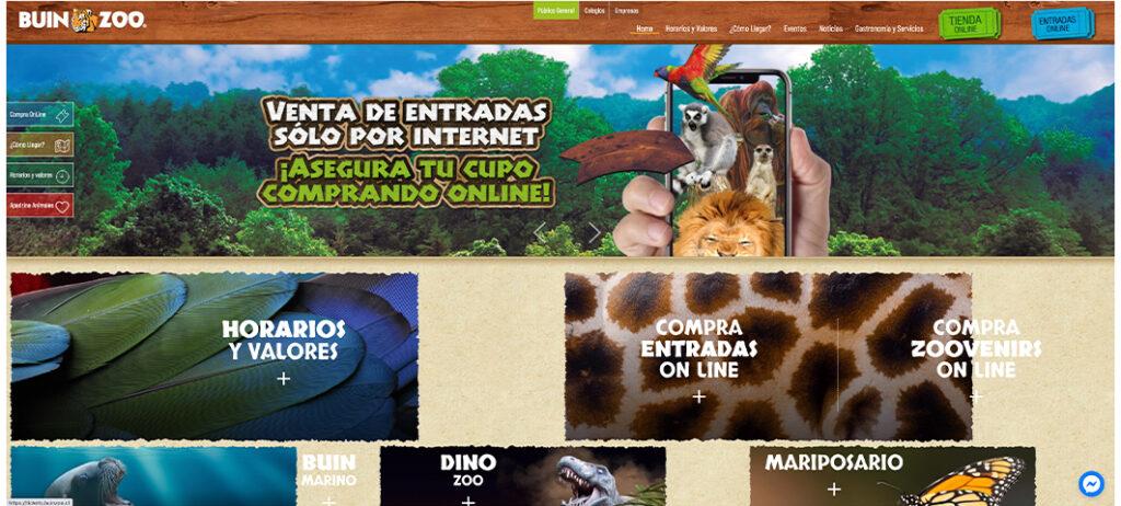 Imagen de sitio web de Buin Zoo