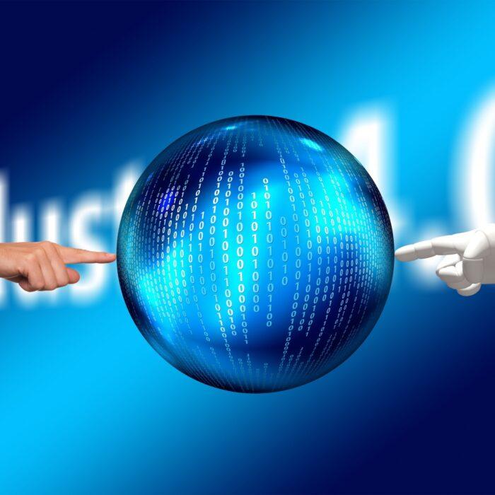 mano robotica y mano human apuntan a un mundo comun
